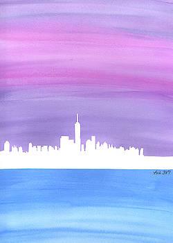 Harmony in the City - New York City Skyline by Lisa Blake
