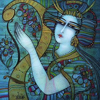 Harp in blossom by Albena Vatcheva