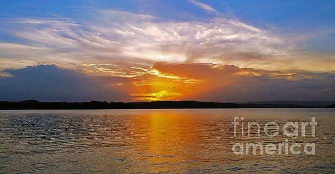 Harrison Bay Sunset by Geraldine DeBoer