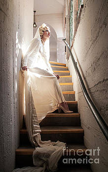 Sad Hill - Bizarre Los Angeles Archive - Haunted by History - Mission Inn - Bride on Stairs