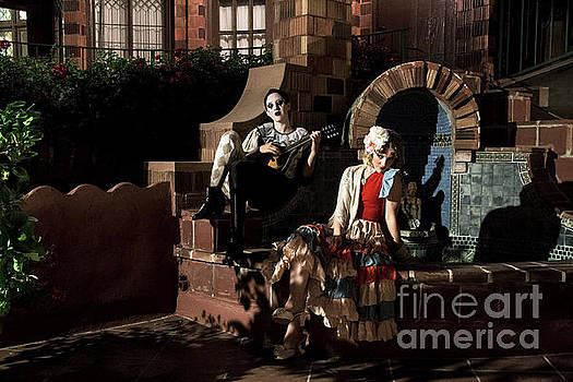 Sad Hill - Bizarre Los Angeles Archive - Haunted by History  Pierrot and the Maiden - fountain -  Mission Inn  Riverside CA