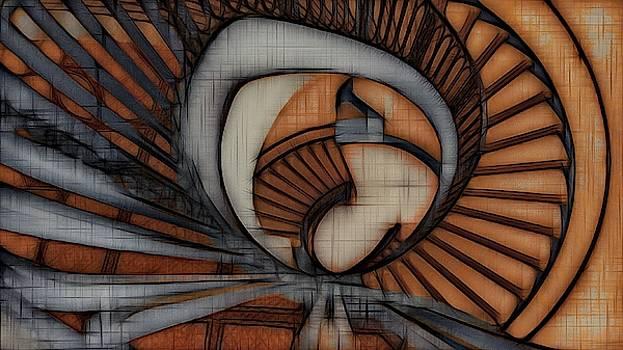 Haunted Stairway by Tom Kiebzak