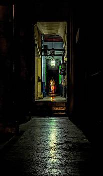 Havana Cuba Nighttime Alley by Joan Carroll