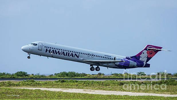 Reid Callaway - Hawaiian Airlines N493 H A Boeing 717 Tacking Off Honolulu Hawaii Art