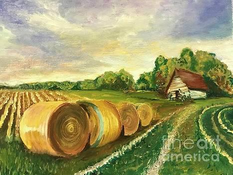 Hay Bales by Boni Arendt