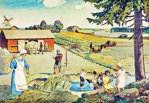 Haymaking by Pekka Liukkonen