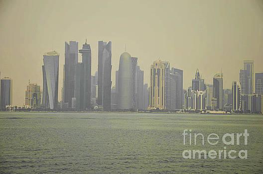 Hazy Doha skyline by Yavor Mihaylov