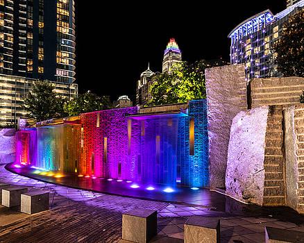 HDR Rainbow Fountain by Christine Buckley