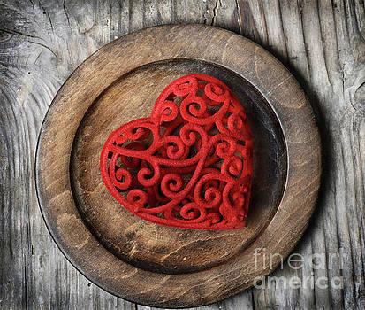 Heart on Plate by Jelena Jovanovic