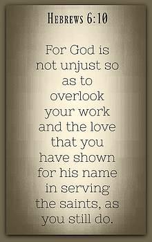 Hebrews 6 10 by David Norman