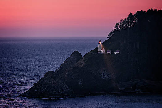 Heceta Head Lighthouse Sunset by Wes and Dotty Weber