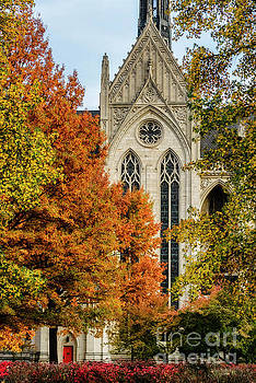 Heinz Chapel Autumn Trees by Thomas R Fletcher