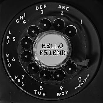Terry DeLuco - Hello Friend Rotary Black Phone Dial Square