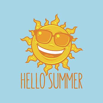 Hello Summer Sun With Sunglasses by John Schwegel
