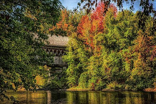 Henniker New Hampshire Covered Bridge by Jeff Folger