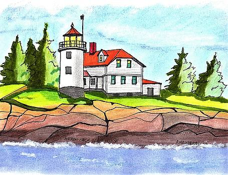 Heron Neck Lighthouse- Maine by Paul Meinerth