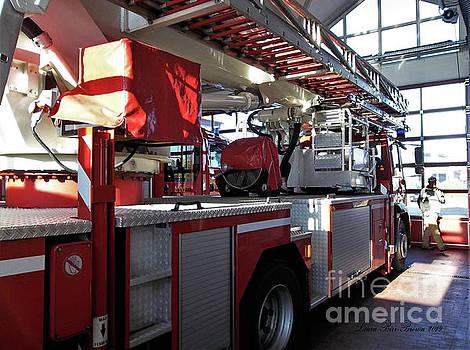 Herzberg Germany Fire Truck by Laura Birr Brown