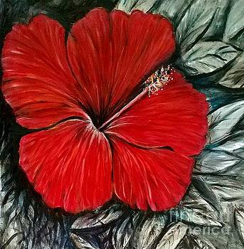 Hibiscus Florida art by Larry Palmer