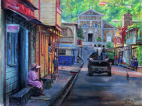 High Street, Laborie, 4pm by Jonathan Guy-Gladding JAG