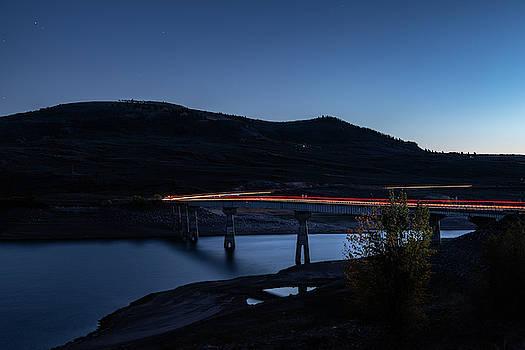 Highway 50 Bridge at Dusk by Jim Allsopp