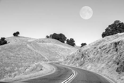 Highway One Mendocino County Moon by Betsy Knapp