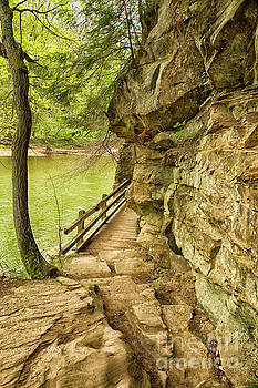 Hiking Crevice Rock by Nikki Vig
