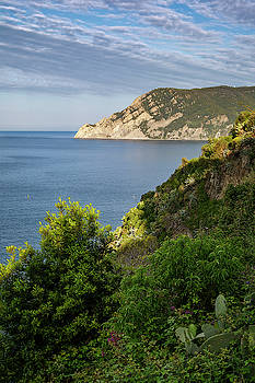 Hiking From Vernazza Cinque Terre Italy by Joan Carroll