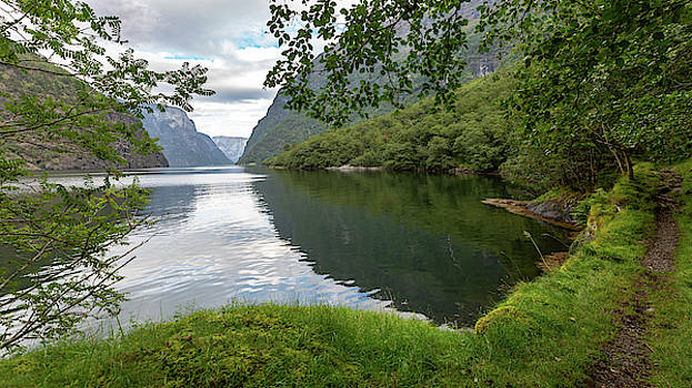 Hiking the Old Postal Road by the Naeroyfjord, Norway by Andreas Levi