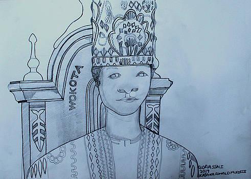 His Royal Highness Kabaka Ssabasajja Ronald Edward Frederick Kimera Muwenda Mutebi II at a Young Age by Gloria Ssali