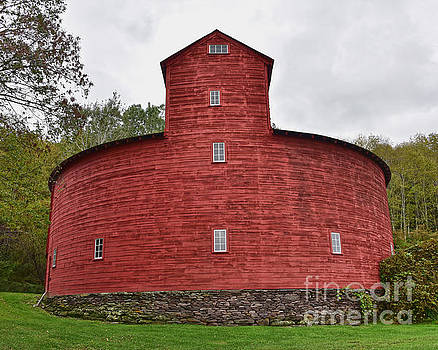 Historic Red Round Barn by Catherine Sherman