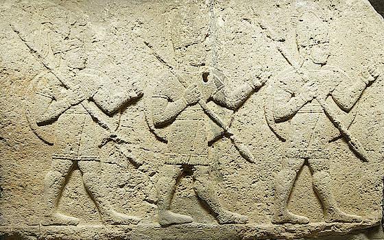Hittite warriors, Orthostat steles from Kargama by Steve Estvanik