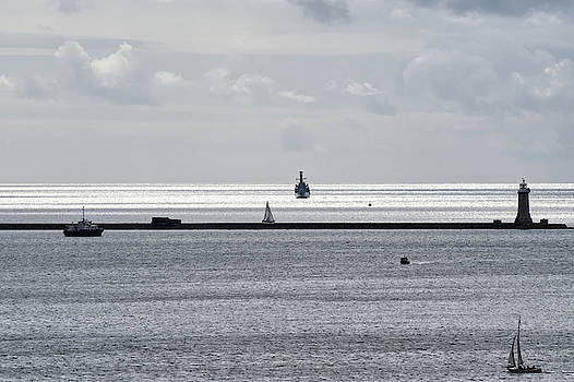 HMS Northumberland heading for Plymouth Sound by Chris Day