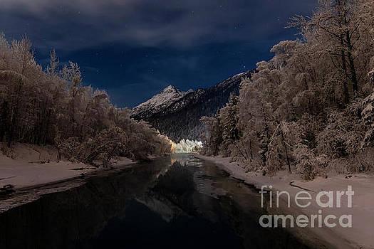Hoar Frost on the Knik River by Bernita Boyse