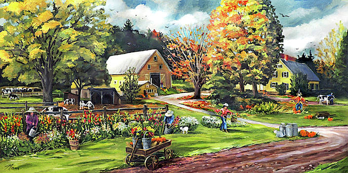 Hodges Farm in Fairlee Vermont by Nancy Griswold