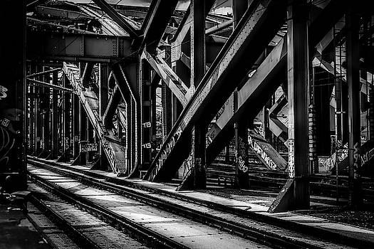 Hohenzollern Railroad Bridge - Cologne by Daniel Hagerman