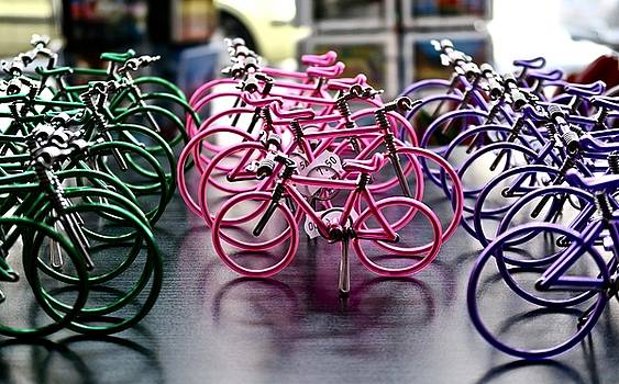 Holiday Art Bicycles  by Chris Bavelles