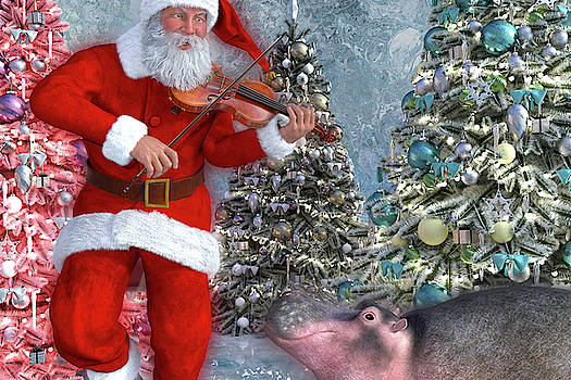 Holiday Hippo Dancing Cheer by Betsy Knapp