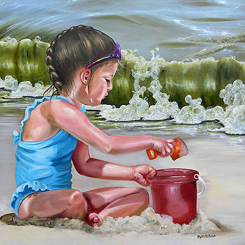 Holly's Day At The Beach by Phyllis Beiser