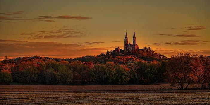Dale Kauzlaric - Holy Hill Sunrise Panorama