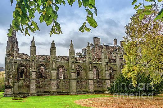 Holyrood Abbey In Autumn by Elizabeth Dow