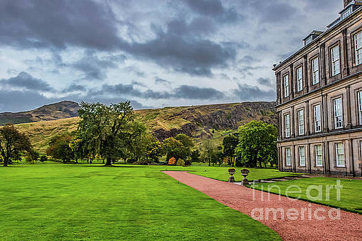 Holyrood Palace with Arthur's Seat  by Elizabeth Dow