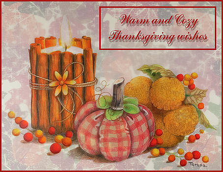 Home Made Autumn Thanksgiving card by Teresa Frazier