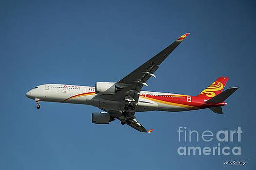 Reid Callaway - Hong Kong Airlines Airbus A 350 Landing Los Angeles Airport Art