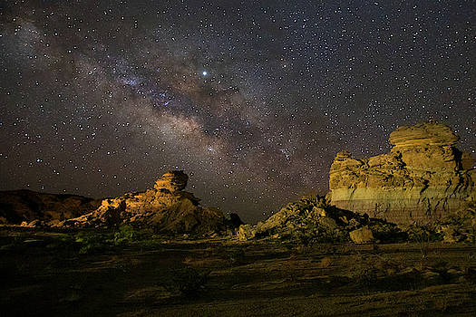 Hoodoos Under the Milky Way Wall Art  by Harriet Feagin