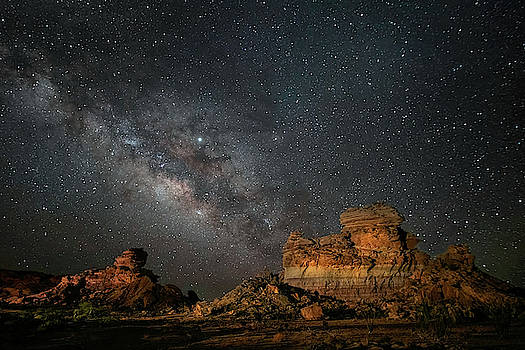 Hoodoos Under The Milky Way by Harriet Feagin