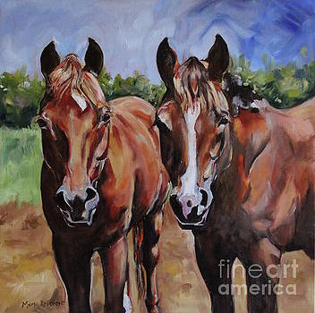 Horse Art  by Maria's Watercolor