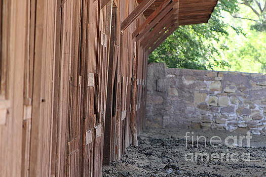 Horse Stables at Fort Stanton New Mexico by Colleen Cornelius