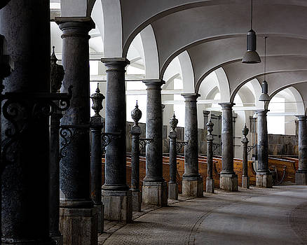 Horse Stalls of the Royal Stables in Copenhagen Denmark by William Dickman