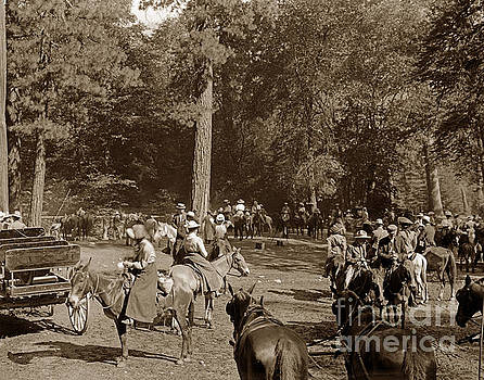 California Views Archives Mr Pat Hathaway Archives - Horseback riding Pack Train en rout to Glacier Point Yosemite Ci