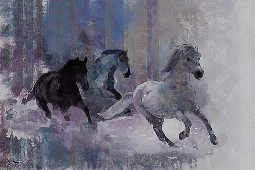 Horses Running by Robert Bissett